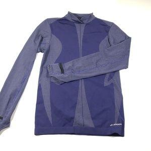 Brooks for women blue Gray long sleeve medium top